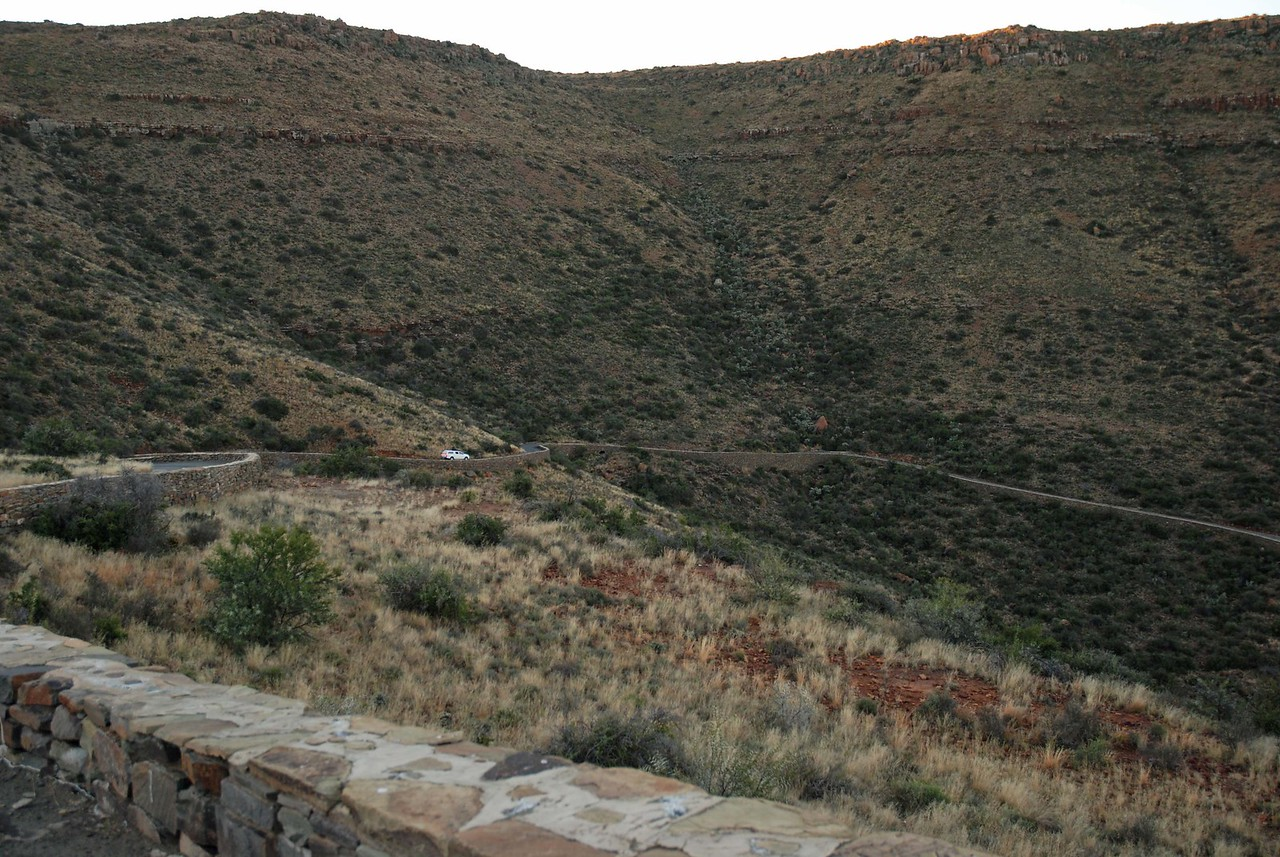 The Klipspringer Pass in Karoo National Park<br /> <br /> Since there was still a couple of hours of daylight left, we decided to take a drive through the Klipspringer Pass, where we could view the spectacular scenery and enjoy the wildlife. The route through the pass was winding and rather steep in places, allowing Robert and Craig who were driving, to hone their 4x4 skills for the upcoming challenges of Kgalagadi National Park.