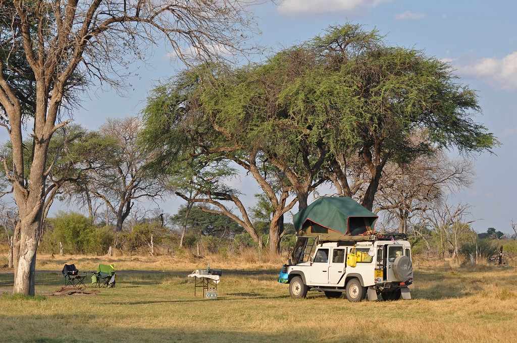 Our campsite in the Khwai concession near Chobe National Park, Botswana - a last minute addition to the itinerary   Trip planning:   After much reading and online research, we drew up an itinerary and then contacted Safari Drive http://www.safaridrive.com, specialist African operators based in the UK, with whose able assistance we had completed self-drives through Botswana in 2008 and Kenya and Tanzania in 2009. Safari Drive once again shared their expertise, were generous with their advice, provided us with a fully equipped Land Rover, looked after our campsite and lodge bookings, arranged all land transfers and generally made the whole experience so much easier.   At the planning stage, we found the following very helpful: The Safari Drive website http://www.safaridrive.com The Bradt Guide to Zambia Fourth Edition 2008 (ISBN-13: 978-1-84162-226-2) by Chris McIntyre The Bradt Guide to Botswana Third Edition 2010 (ISBN-13: 978-1-84162-308-5 by Chris McIntyre www.bradtguides.com Fodor's Africa and the Middle East Forum http://www.fodors.com/community/africa-the-middle-east/  We found our way with a Garmin 60CX GPS, onto which we loaded the Tracks4Africa Botswana and Zambia/Zimbabwe maps. We purchased the maps online: http://www.tracks4africa.co.za. Our vehicle came equipped with a Garmin Nüvi, which was also loaded with the appropriate Tracks4Africa maps. We couldn't have become lost if we tried.  We also found the following paper/hard copy maps helpful. Safari Drive provided some of the maps, and we purchased the remainder online from http://www.omnimap.com.  Botswana (paper map) Tracks4Africa www.tracks4africa.com The Shell Map of the Moremi Game Reserve 2008 Edition (Veronica Roodt) ISBN: 99912-0-156-4 The Shell Map of Chobe National Park 2008 Edition (Veronica Roodt) ISBN: 99912-0-157-2 Zambia InfoMap 2011 www.infomap.co.za Zambia Map Pack – Zambia road map and Lusaka street map 5th Edition 2009 Directory Publishers of Zambia Ltd. Namibia (paper map) Track4Africa www.tracks4africa.com